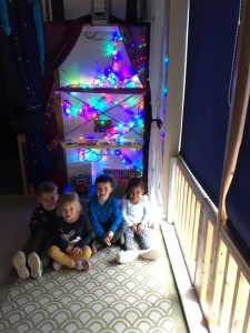 Children celebrating Diwali at First Steps Day Nursery
