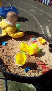 Butterflies sandcastles