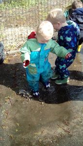 Butterflies Puddle Play Jumping