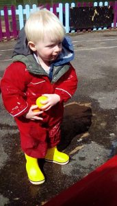 Butterflies Puddle Play Red Jacket