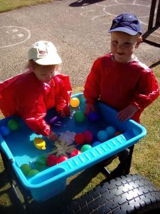 Bumblebees Water Play First Steps Day Nursery